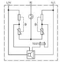 Finder 7P.36 Protezione sovratensioni pannello Scatole di derivazione 3 kA
