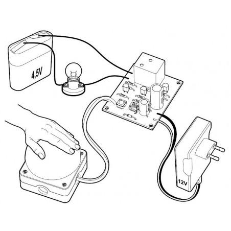 KIT Interruttore a tempo regolabile 2 sec – 5 min a pulsante 12V DC con relè