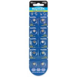 SET 10 pz Batteria a bottone Alcalina LR54 LR1130 189 AG10