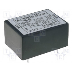 EMI anti-interference mains filter for 250V 10A PCB printed circuits