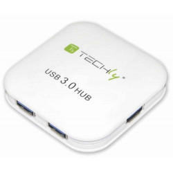 Hub USB 3.0 Super Speed de 4 puertos, blanco