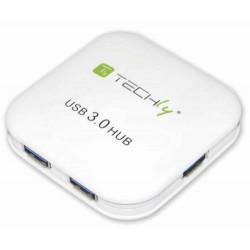 Super Speed 4 Port USB 3.0 Hub White