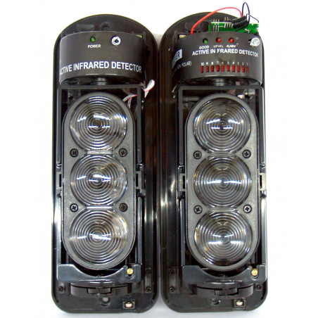BARRIERA LED INFRAROSSI FOTOCELLULA TRIPLA 70m uscita relè e TX 433,92MHz 2800