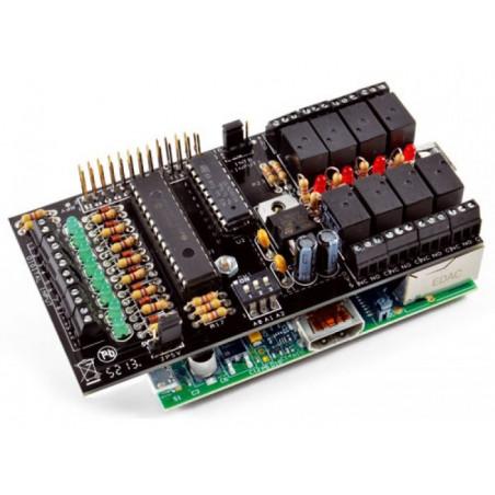 KIT Shield I2C di espansione IO 8 IN + 8 OUT Relè per Raspberry PI