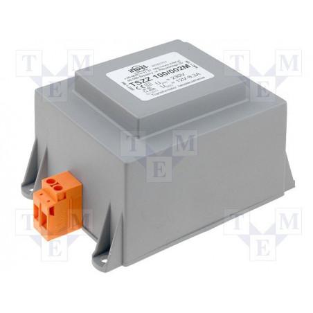 Transformador encapsulado con terminales 230V 12V 100VA TSZZM 100 / 002M