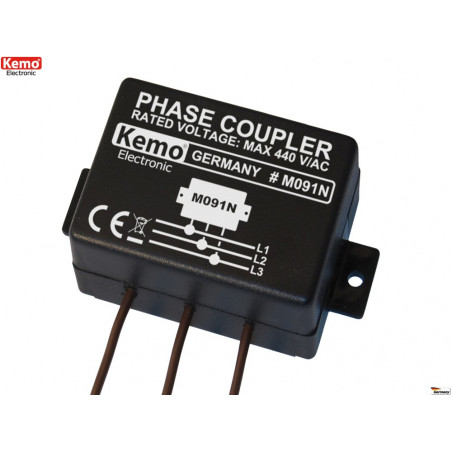 Three-phase coupler for powerline homeplug networks conveyed waves up to 650 Mbit / s