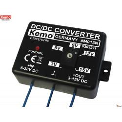 Convertitore DC DC step down stabilizzato regolabile da 3V a 15V DC 1,5A