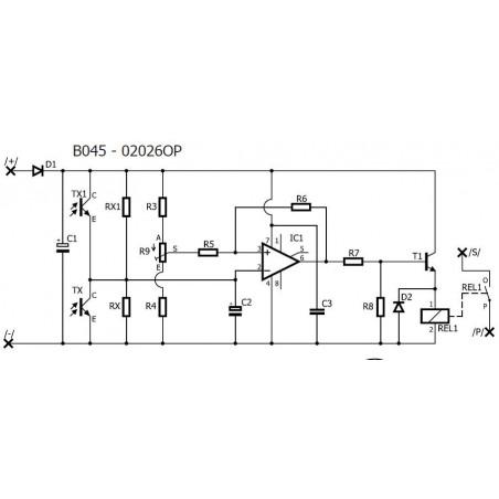 KIT interruttore crepuscolare notte giorno barriera luce 12V DC con uscita a relè