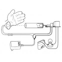 Kit interruptor crepuscular barrera fotoeléctrica día noche 12V DC con salida de relé