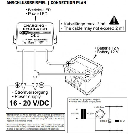 Regolatore di carica batteria piombo 12V per fotovoltaico e alimentatori