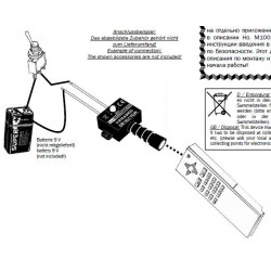 Probador de detectores de infrarrojos para probar mandos a distancia, barreras e iluminadores de infrarrojos