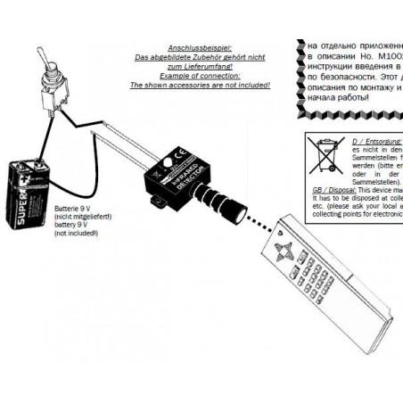 Tester rilevatore infrarossi per prova telecomandi, barriere e illuminatori IR