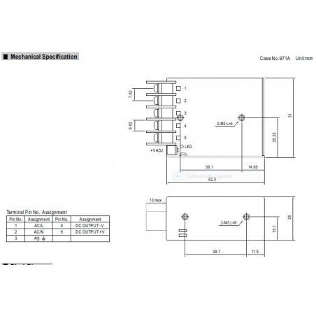 Fuente de alimentación conmutada universal estabilizada de 12V DC 1.3A RS-15-12