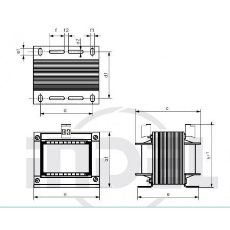 Trasformatore costruzione aperta con morsetti 230V 24V 100VA TMB 100/002M/1