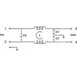 EMI-Entstörungsnetzfilter für elektronische elektrische 250V 6A-Geräte