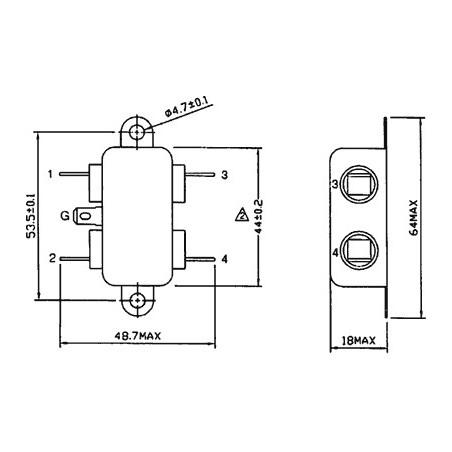 Filtre secteur anti-interférence EMI pour appareils électriques électroniques 250V 6A