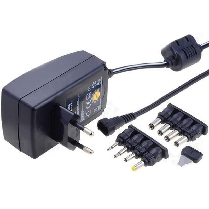 Prise d'alimentation stabilisée universelle 3-12V DC 1A DC et connecteurs Jack