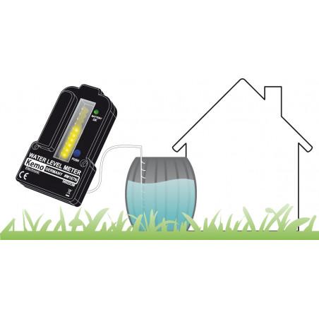 Indicateur de niveau de batterie pour réservoirs d'eau avec télécommande jusqu'à 100 m
