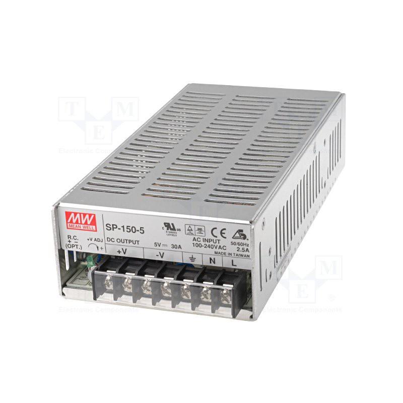 Alimentatore universale switching PFC attivo stabilizzato 5V DC 30A SP-150-5