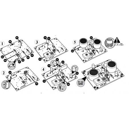 KIT sensore prossimità proximity ultrasuoni regolabile 10–80 cm 9-12 V DC