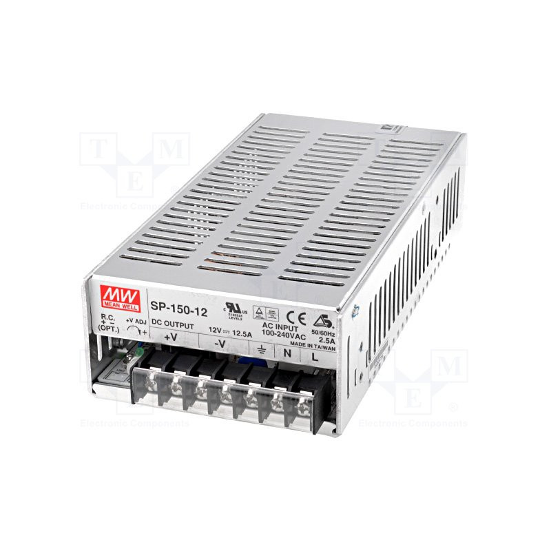 Alimentatore universale switching PFC attivo stabilizzato 12V DC 12,5A SP-150-12