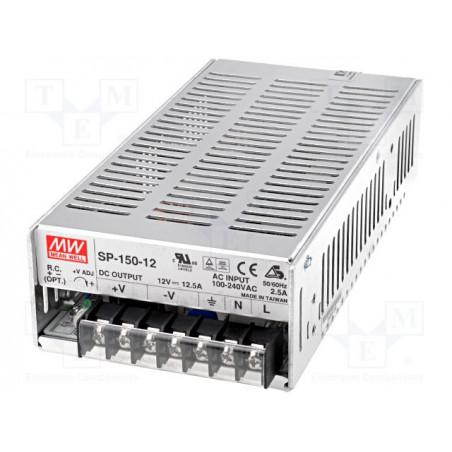 Fuente de alimentación PFC activa estabilizada de conmutación universal 12V DC 12.5A SP-150-12