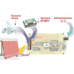Centralina gestione tende da sole e tapparelle con inclusi sensore pioggia e vento