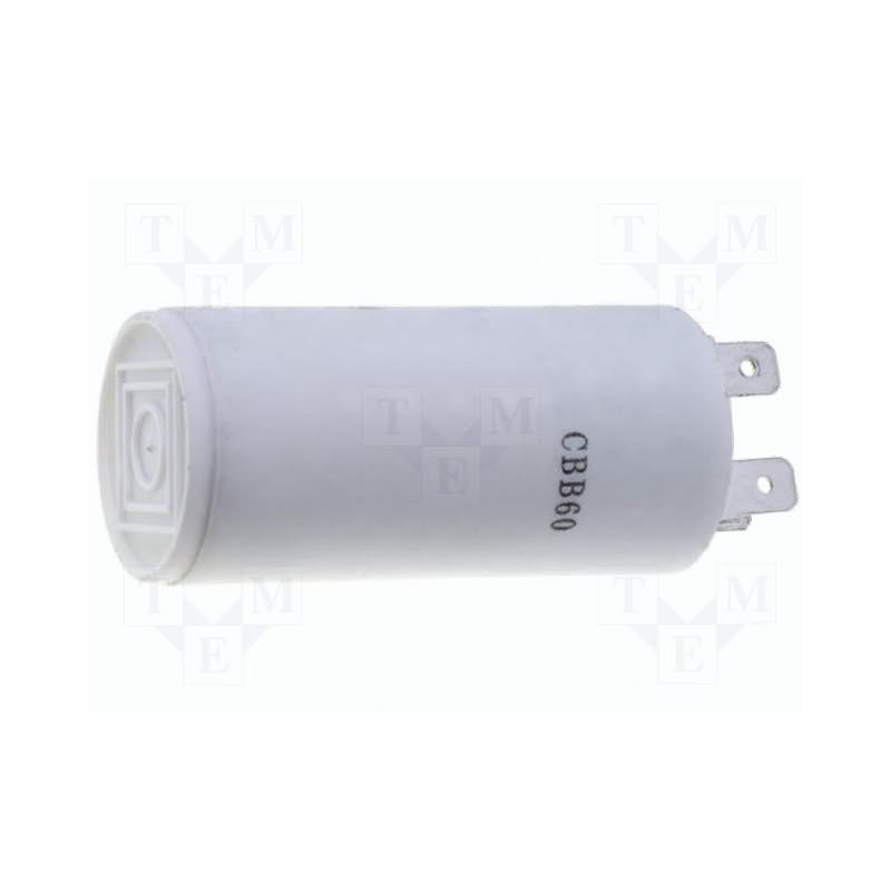 Polypropylen-Kondensator 1,5µF 450V für stationäre Motoren mit Faston-Steckern