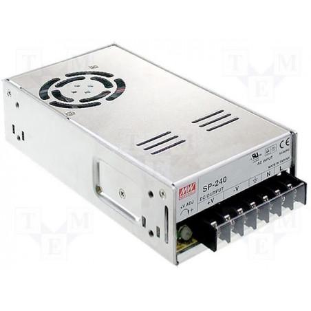 Alimentatore universale switching PFC attivo stabilizzato 24V DC 10A SP-240-24