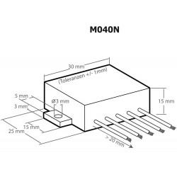 Amplificatore audio 12W universale di potenza Plug & Play 6-16V DC