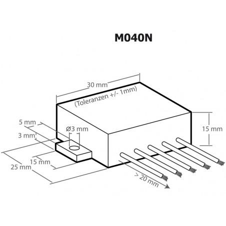 Amplificador de audio de potencia universal de 12 W Plug & Play 6-16 V CC