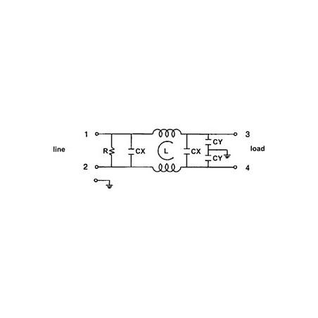 Filtro de red antiinterferencias EMI para dispositivos eléctricos electrónicos de 250V 15A