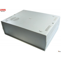 Contenitore console a conchiglia con griglia circolare ca. 260 x 195 x 90 mm