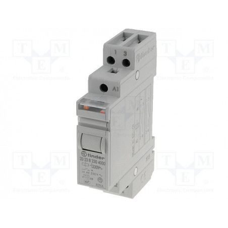 FINDER 20.23 12V DC bistable impulse relay with 2 NO NC 16A 250V contacts