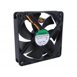 12V DC brushless cooling fan 120x120x25mm 127.5m3h 34dBA 3 wires