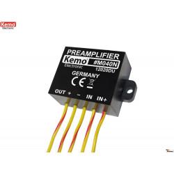 Pre amplificatore universale 9V - 24V DC per piccoli segnali e microfono
