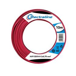 Speaker speaker cable 03VH-H2 x 0.75 mm, 10 Mt Electraline 10836