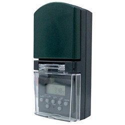 Programmatore Timer Digitale Esterno Settimanale, Verde Electraline 58109