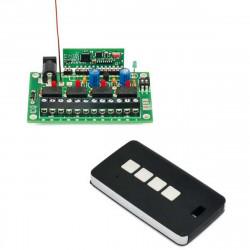 LORA 4 CANALES RADIO CONTROL SET control remoto con comando de retroalimentación rango máximo 8 km