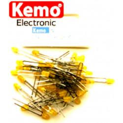 Confezione da 50 LED Ø 3 mm giallo