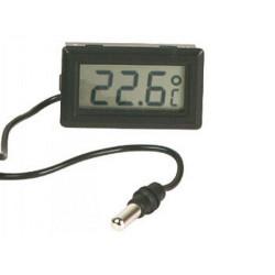 Termometro digitale da pannello con sonda -50°C +110°C a batteria