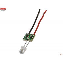 Indicateur LED alimentation à courant constant 15mA 4 - 30V DC polyvalent