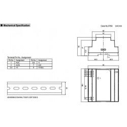 Alimentatore barra DIN universale switching stabilizzato 12V DC 7,5A DR-100-12