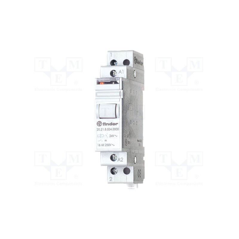 FINDER 20.23 Relè ad impulsi bistabile 12V DC con 2 contatti NA NC 16A 250V