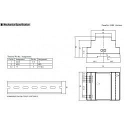 Fuente de alimentación de barra DIN de conmutación universal estabilizada DR-30-12 de 12V DC 2A DR-30-12