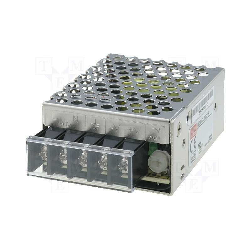 12V DC 1.3A RS-15-12 stabilized universal switching power supply