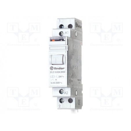 FINDER 20.23 Bistable impulse relay 24V AC with 2 NO NC 16A 250V contacts