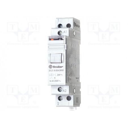 FINDER 20.23 Relé de impulso biestable 24V AC con 2 contactos NA NC 16A 250V