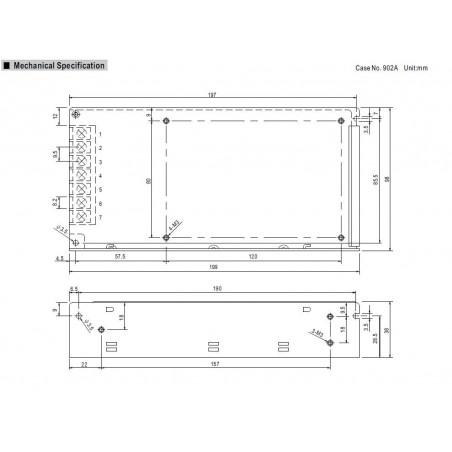 Alimentatore universale switching stabilizzato 12V DC 12,5A RS-150-12