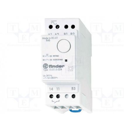 FINDER 13.01 Relè ad impulsi o monostabile elettronico 12V AC DC contatti 16A 250V